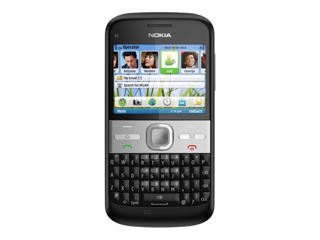 Picture of Nokia E5-00 - carbon black - 3G GSM - smartphone