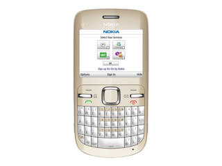 Picture of Nokia C3-00 - golden white - GSM - mobile phone