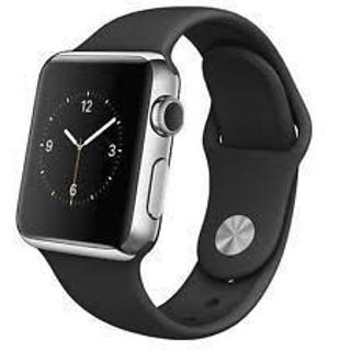 Picture of Apple Watch - Stainless Steel - Silver Aluminium - Smart Watch with Black Sport Band - Gold Grade Refurbished