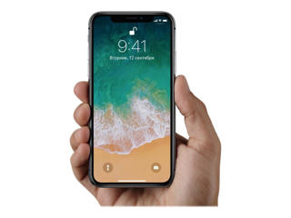 Picture of Apple iPhone X - 64GB - space grey - 4G LTE, LTE Advanced - 64 GB - GSM - smartphone - Gold Grade Refurbished