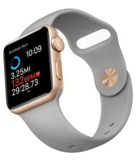 Picture of Apple Watch 2 38 mm  Sport - Rose Gold - Grey Strap - Smart Watch  - Gold Grade Refurbished