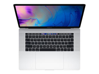 """Picture of Apple MacBook Pro with Touch Bar - 15.4"""" - Core i7 2.6GHz 6 Core- 16 GB RAM - 256 GB SSD - Silver Grade Refurbished"""