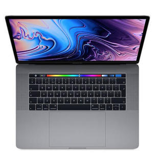 """Picture of Apple MacBook Pro with Touch Bar - 16"""" - Core i7 6 Core 2.6 GHz - 16 GB RAM - 512 GB SSD - Silver Grade Refurbished"""