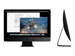 """Picture of Apple iMac Pro with Retina 5K display - all-in-one - Xeon W 2.3 GHz - 18 Core  - 128 GB - 1 TB SSD - LED 27"""" - Silver Grade Refurbished"""